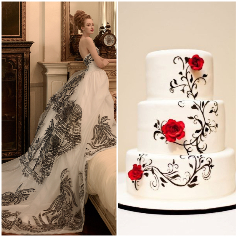 Dress: St. Pucchi 9441. Cake.