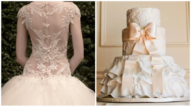 Dress: St. Pucchi 9454. Cake.