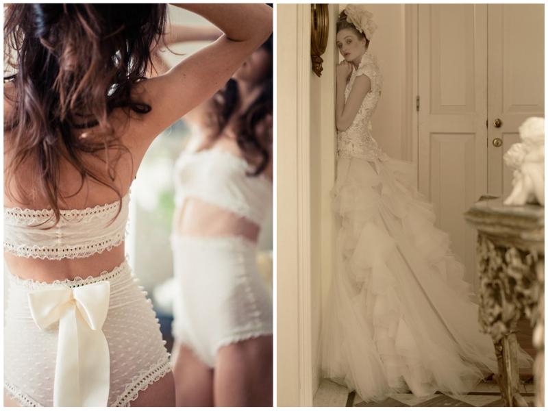 Lingerie: Etsy. Dress; St. Pucchi 9443.