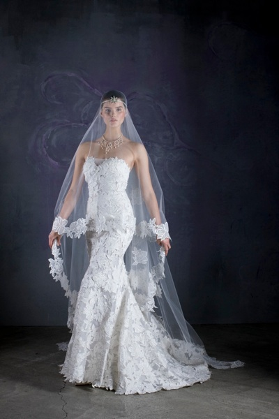 Avine Perucci  - style 506 with matching veil