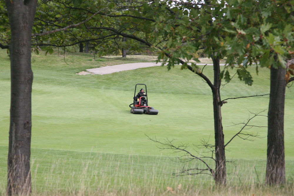 Working hard to keep the course in shape this fall