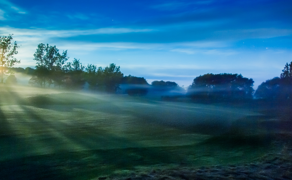 Evening mist drifting over the Heathlands #10 fairway
