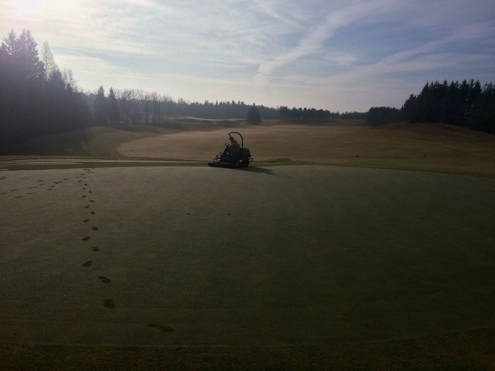 The first mow of the 2015 season on Toot by Dave Hunter