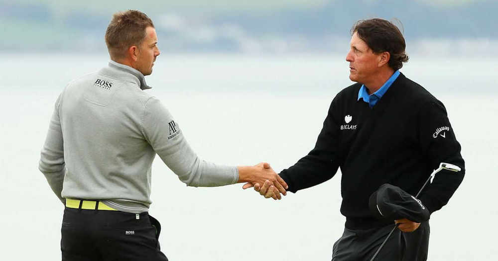 Allison and Wannan meet on the field of battle ... or maybe it's Stenson and Mickelson.