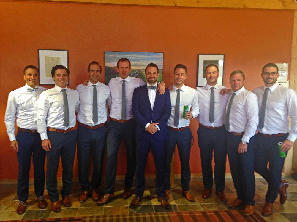 From left to right: Scott Harvey, Derek Lennox, Eric Carusi, Craig Mode, David Black, Warren Coffell, Matt Sayers, Geoff Haynes and Jared Coffell.