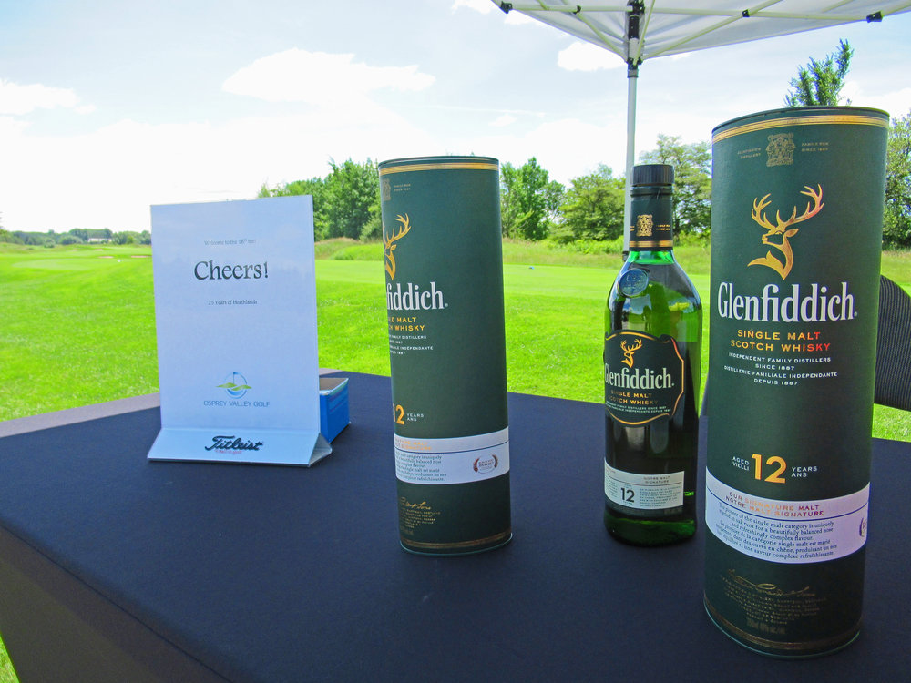 The scotch station on the 18th tee proved to be very popular ,,,