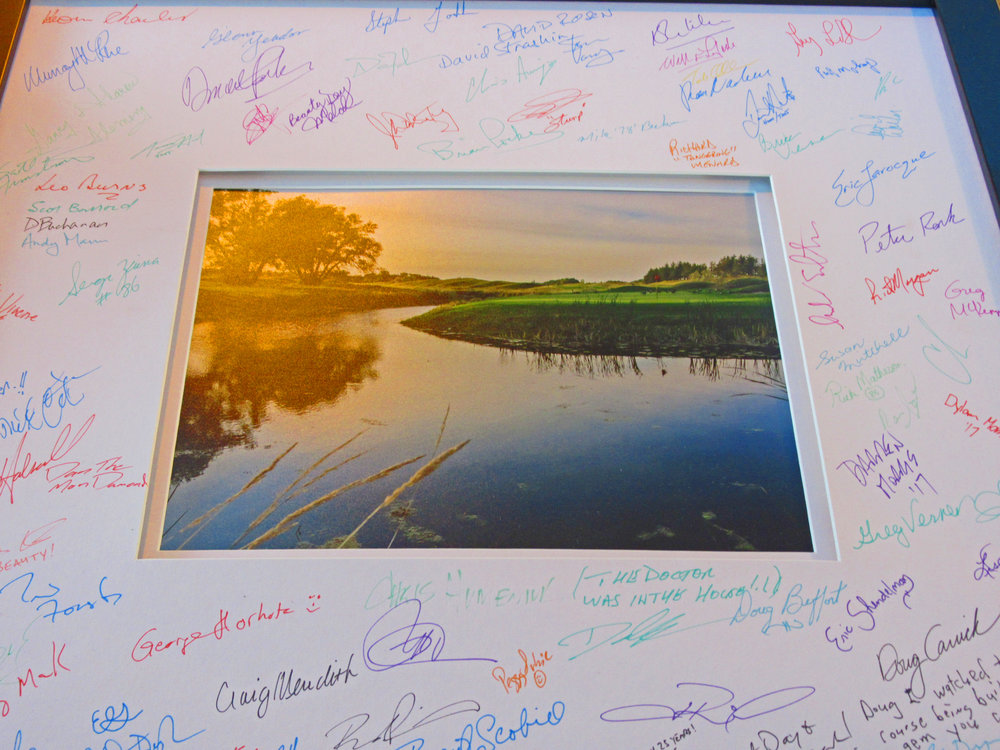 Thanks to everyone who shared our special day and signed our commemorative photo!
