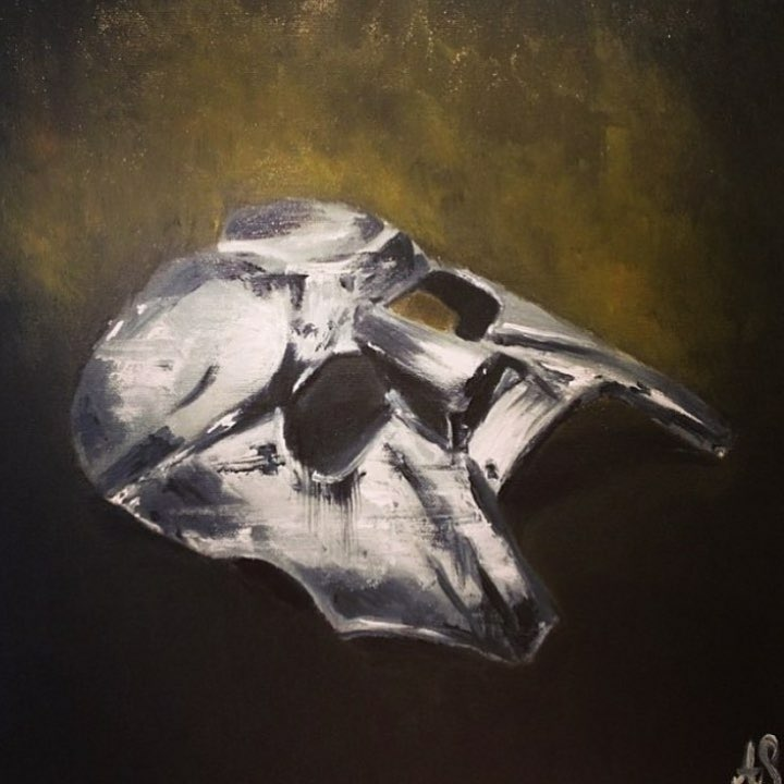 MF DOOM Oil Painting- 2014