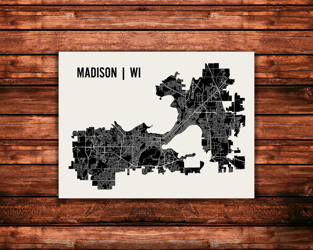 Madison map art print mr city printing gumiabroncs Images