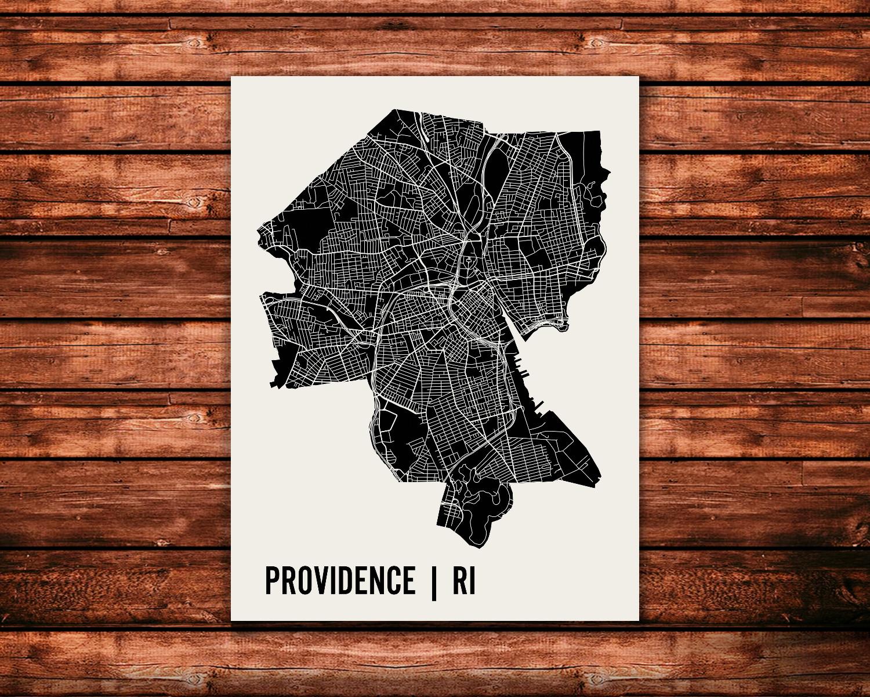 Providence Map Art Print Mr City Printing