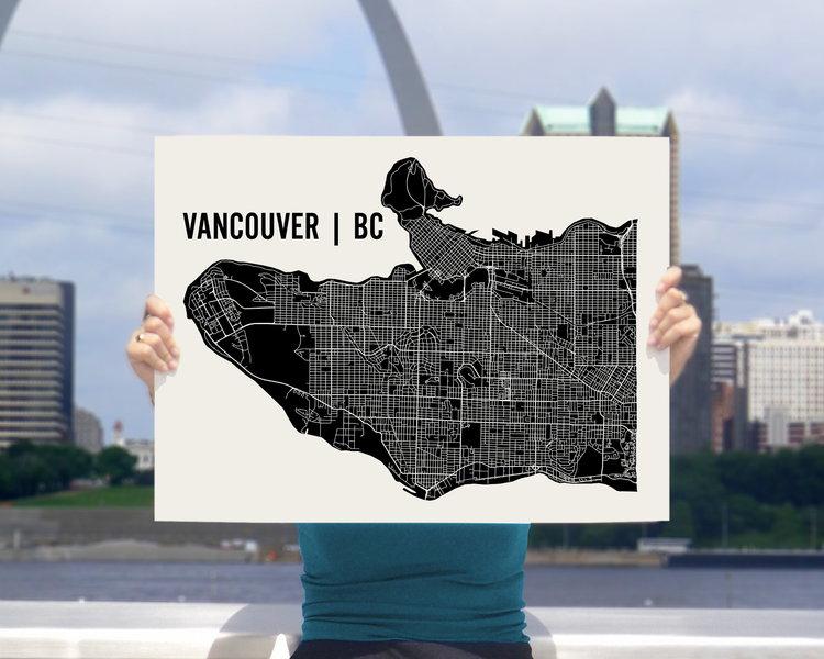 Vancouver map art print mr city printing vancouver map art print gumiabroncs Gallery