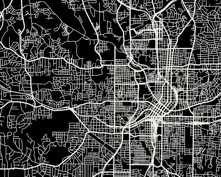 Atlanta Map Art Print — Mr City Printing