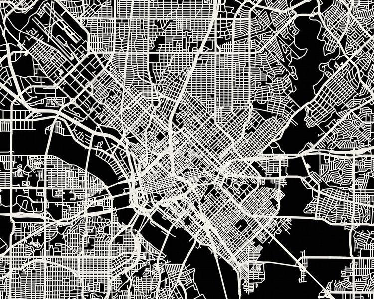 Dallas Map Art Print — Mr City Printing