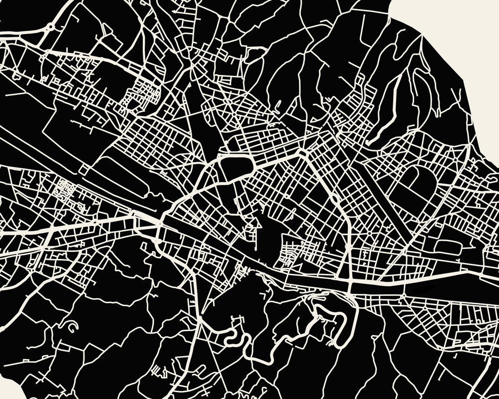 Florence Map Art Print Mr City Printing