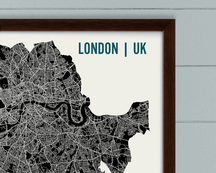 London Map Art Print Mr City Printing