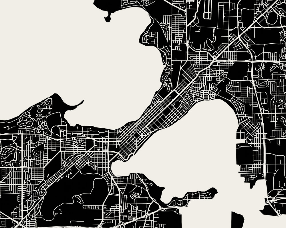Madison Map Art Print Mr City Printing