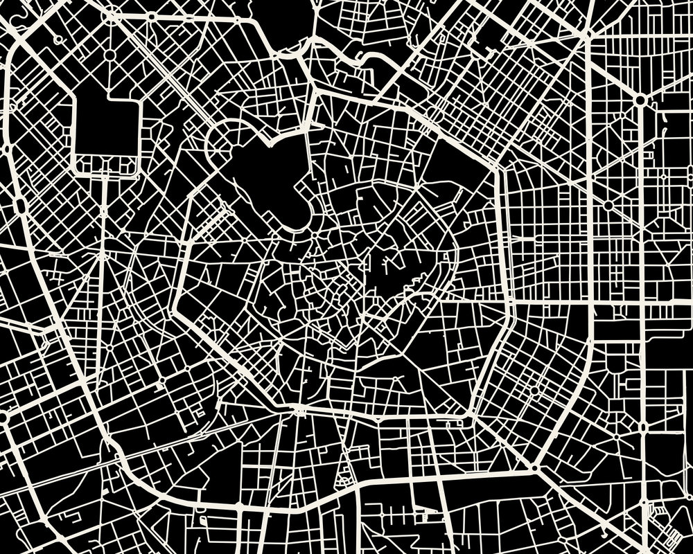 Milan Map Art Print Mr City Printing