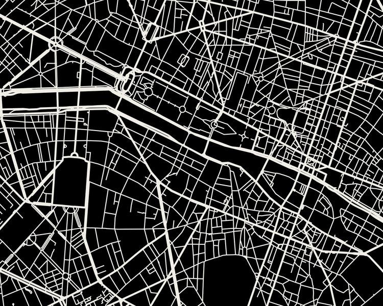 Paris Map Art Print — Mr City Printing