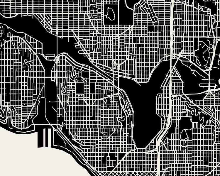 Seattle Map Art Print Mr City Printing