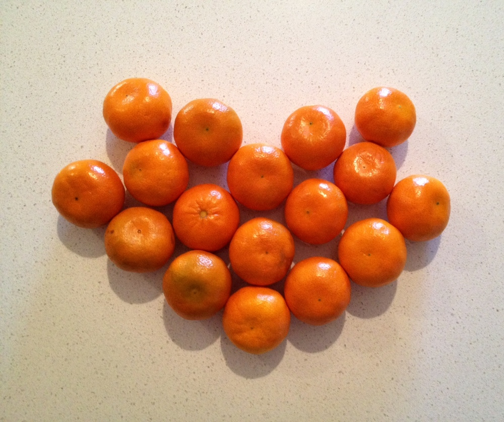 Said Mandarins.  If you can't tell, I've artfully fashioned them into a heart, because that's how much I love them.