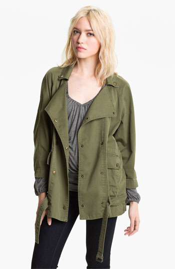 An army jacket of some sort - because it's a war out there.  This one is  Current/Elliott .