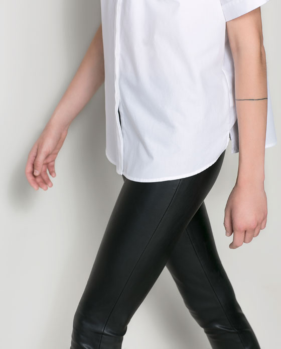 Faux leather pants from  Zara