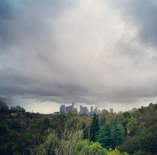 Is it me, or does Downtown LA seem to be holding up the clouds?