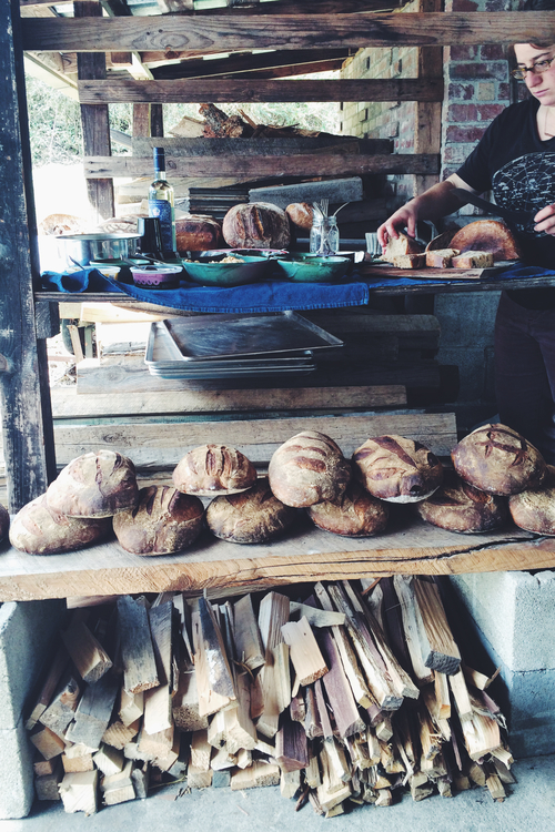 Soon, that could be me hovering over all that fresh bread! Photo via  Smoke Signals