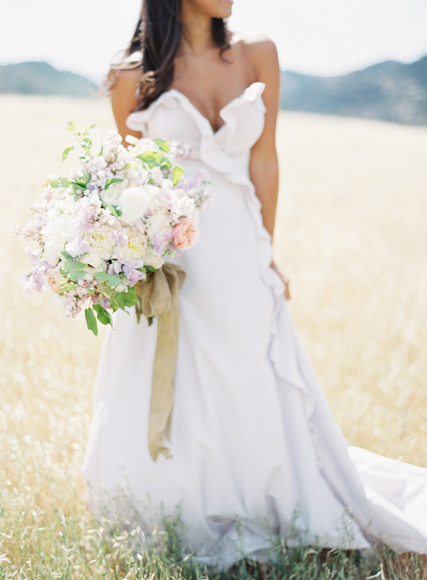 Romantic Prairie Wedding: Daffodil Gown