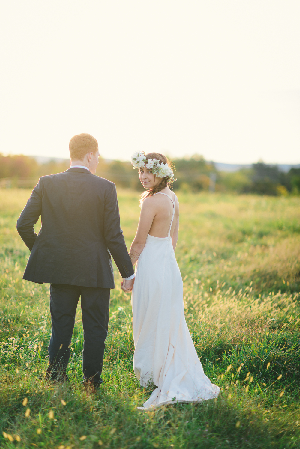 Modern Eco Farm Wedding: Orchid Gown