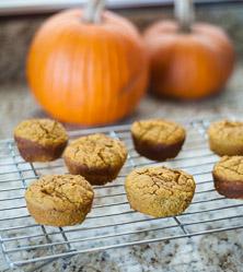 Almond Flour Pumpkin Pie Muffins by Cara Comini
