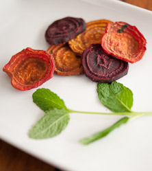 Beet Chips with Orange and Mint