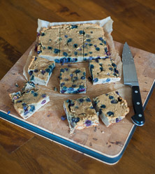 Blueberry Banana Bars by Cara Comini