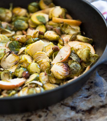 Brussels Sprouts with Apples, Shallots, and Pistachios