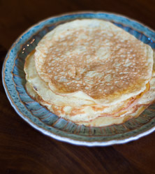 Coconut Flour Crepes by Cara Comini