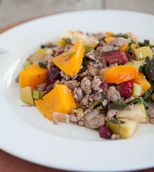 Cranberry and Butternut Squash Ground Pork