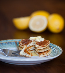 Lemon Poppyseed Pancakes by Cara Comini