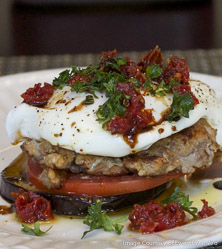 Roasted Eggplant Stacks by Sarah Fragoso