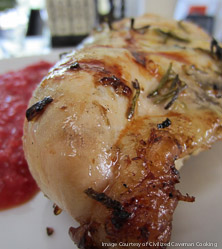 Rosemary Lemon Grilled Chicken with Strawberry Salsa by George Bryant