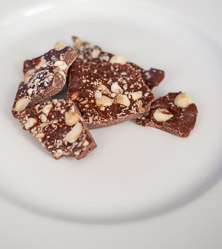 Salted Macadamia Nut Chocolate Bark