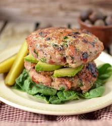 Prosciutto Olive & Sundried Tomato Turkey Burgers