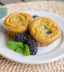 Blackberry Banana Muffins