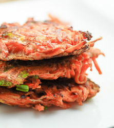 Carrot Scallion Latkes by Elana Amsterdam