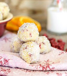 No Bake Cranberry Orange Coconut Snowballs by Tammy Credicott (App Exclusive recipe!)