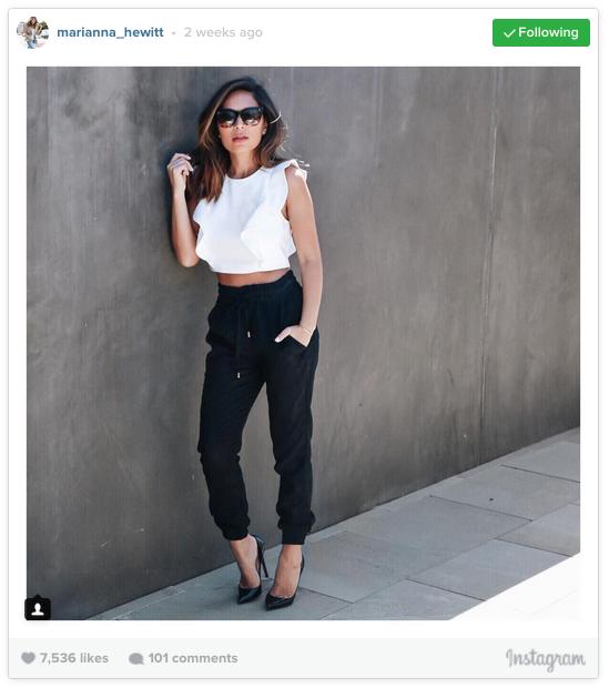 Marianna Hewitt has over 436,000 followers on Instagram