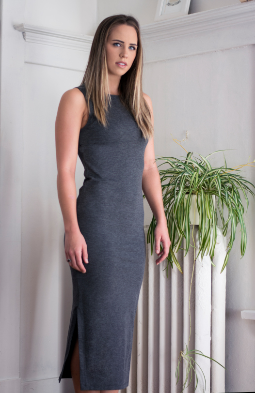Jordan is suited up with the Belen dress . Both looks represents the timeless, strength and luxury of a S o f i a woman.