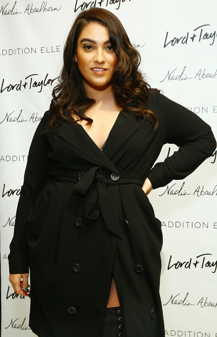 Fashion blogger Nadia Aboulhosn at the Addition Elle Event With Nadia Aboulhosn At Lord & Taylor on October 7, 2015 in New York City. (Photo by Astrid Stawiarz/Getty Images for Lord & Taylor)