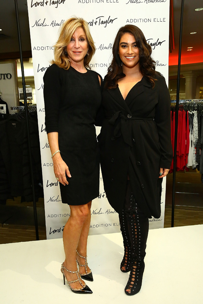 Vice President/General Manager of Lord & Taylor Karyn Benvenuto poses with fashion blogger/model Nadia Aboulhosn at Addition Elle Event with Nadia Aboulhosn at Lord & Taylor on October 7, 2015 in New York City. (Photo by Astrid Stawiarz/Getty Images for Lord & Taylor)