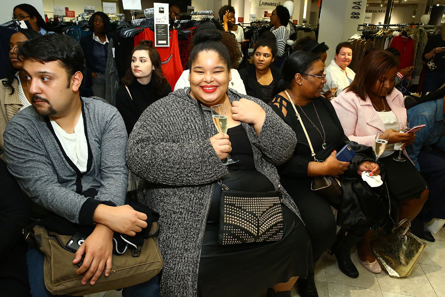 The audience gets ready for the fashion show portion at the Addition Elle Event with Nadia Aboulhosn at Lord & Taylor on October 7, 2015 in New York City. (Photo by Astrid Stawiarz/Getty Images for Lord & Taylor)