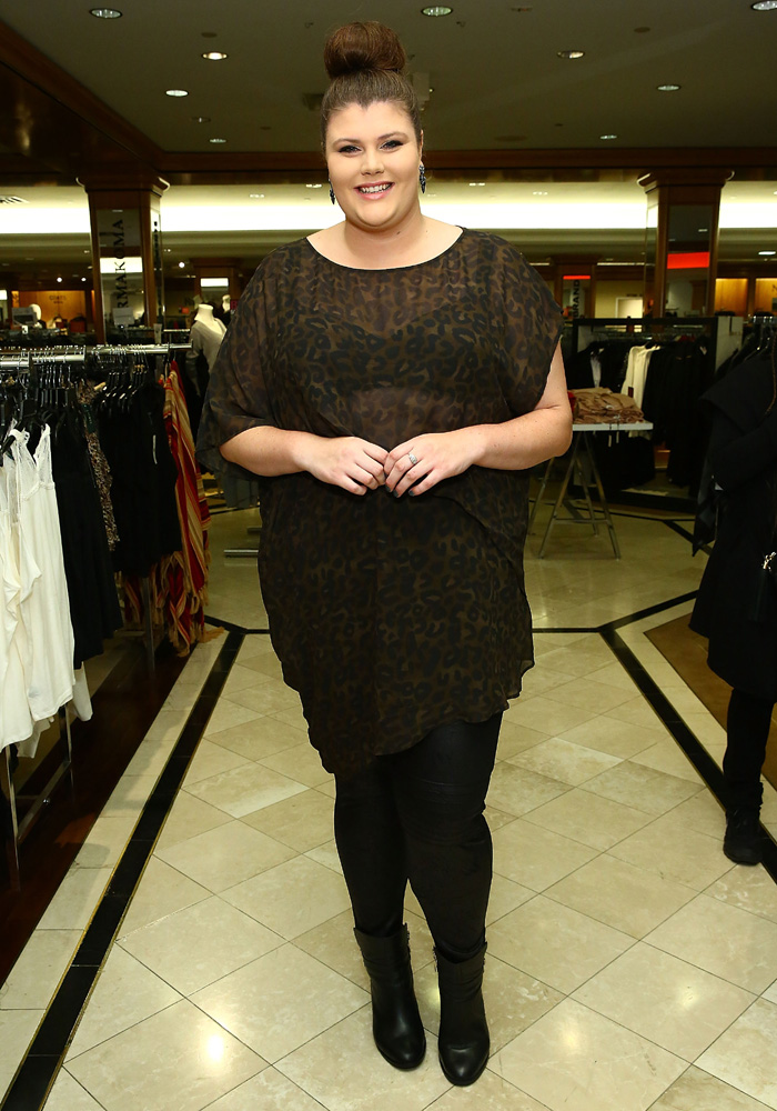 Blogger Beck Delude of The Manfattan Project attends Addition Elle Event With Nadia Aboulhosn At Lord & Taylor on October 7, 2015 in New York City. (Photo by Astrid Stawiarz/Getty Images for Lord & Taylor)